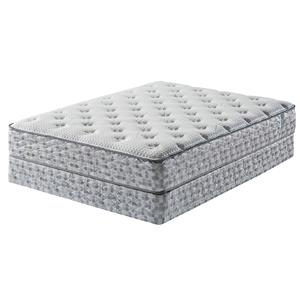 Serta Dream Haven Pacific Dunes Queen Plush Mattress and Wood Foundation