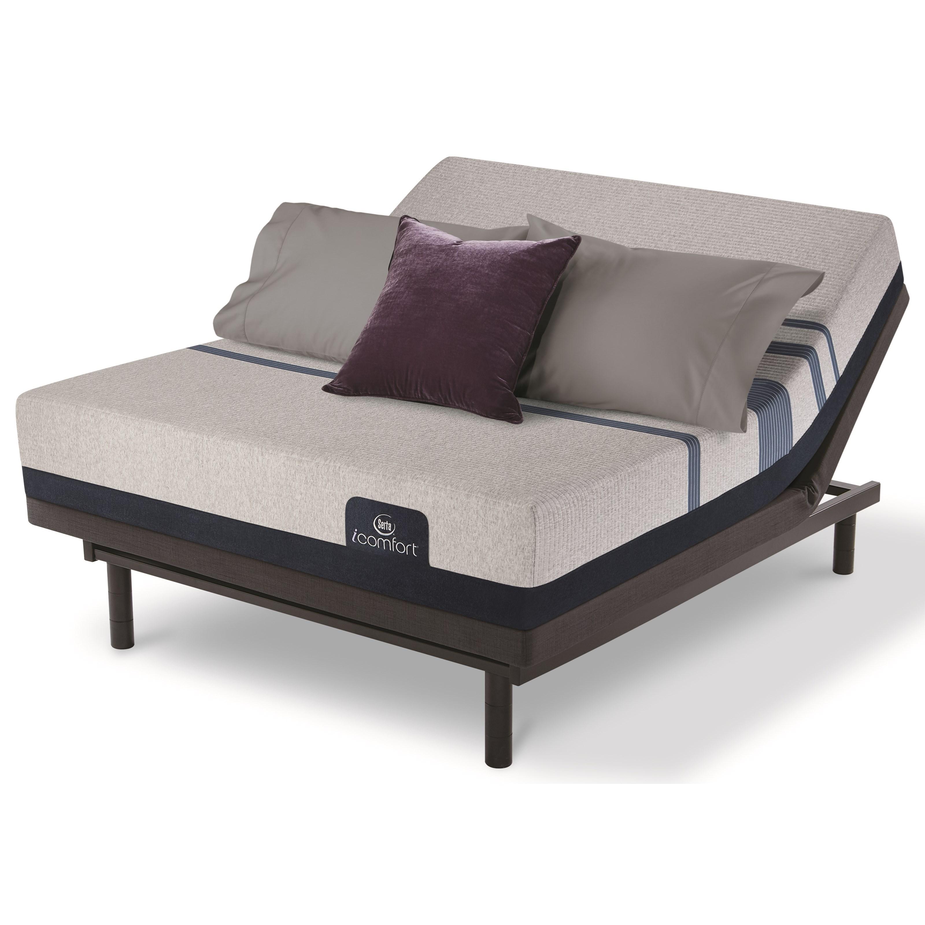 Serta iComfort Blue 300 Firm King Adjustable Set - Item Number: 500801288-1060+500826619-7566