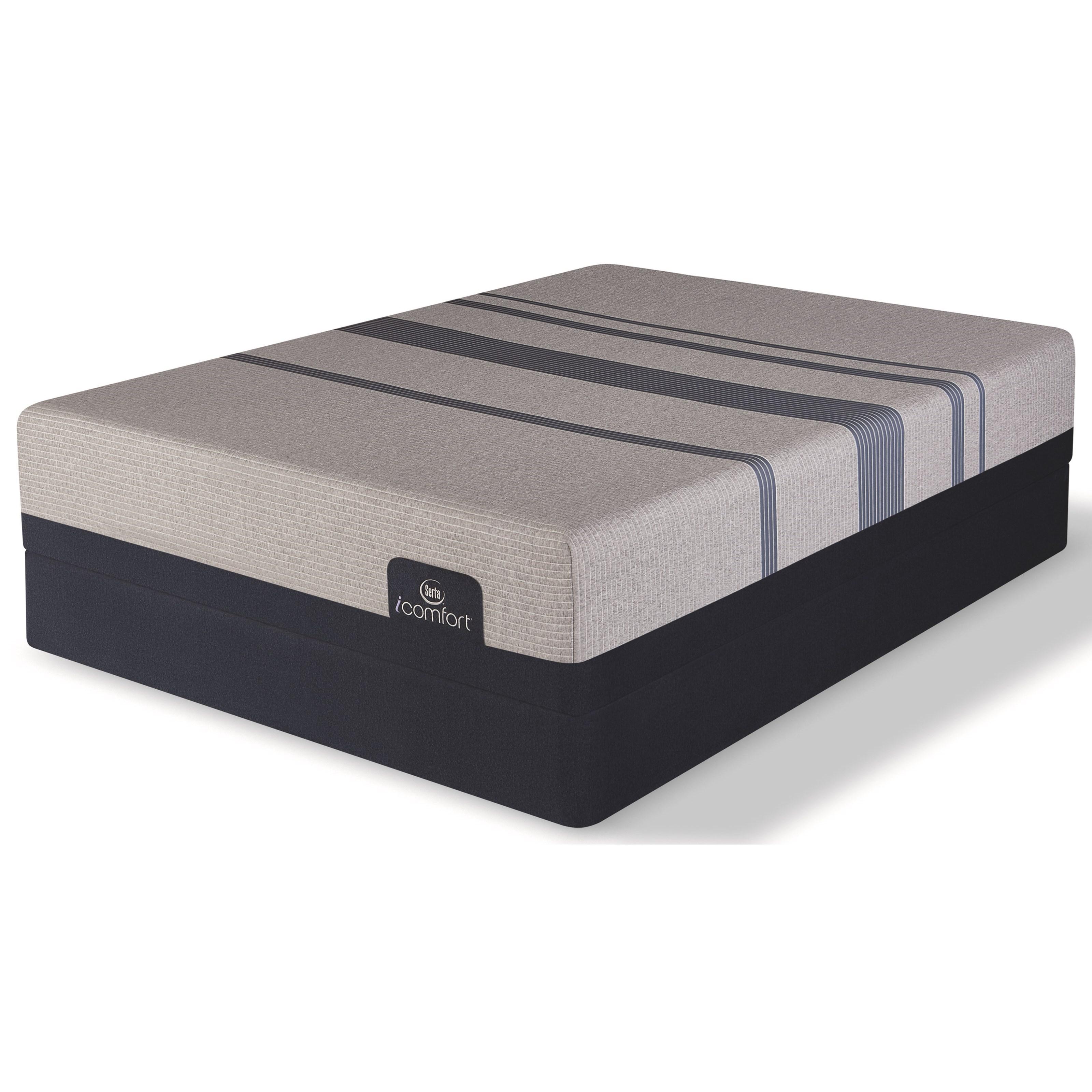 Serta iComfort Blue Max 1000 Cushion Firm Queen Cushion Firm Memory Foam LP Set - Item Number: 500801268-1050+500117499-6050