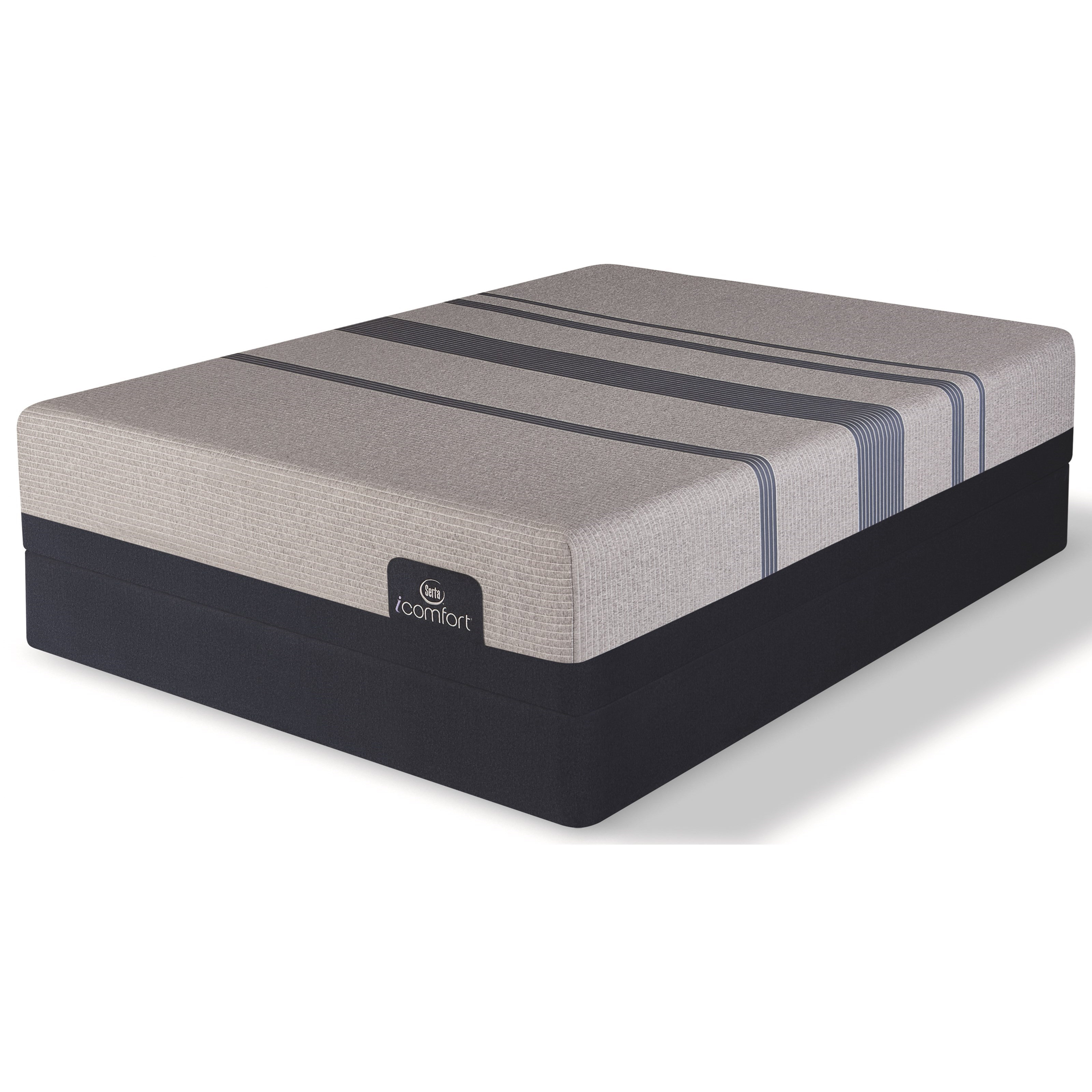 Serta iComfort Blue Max 1000 Cushion Firm Queen Cushion Firm Gel Memory Foam LP Set - Item Number: 500801268-1050+500800199-6050