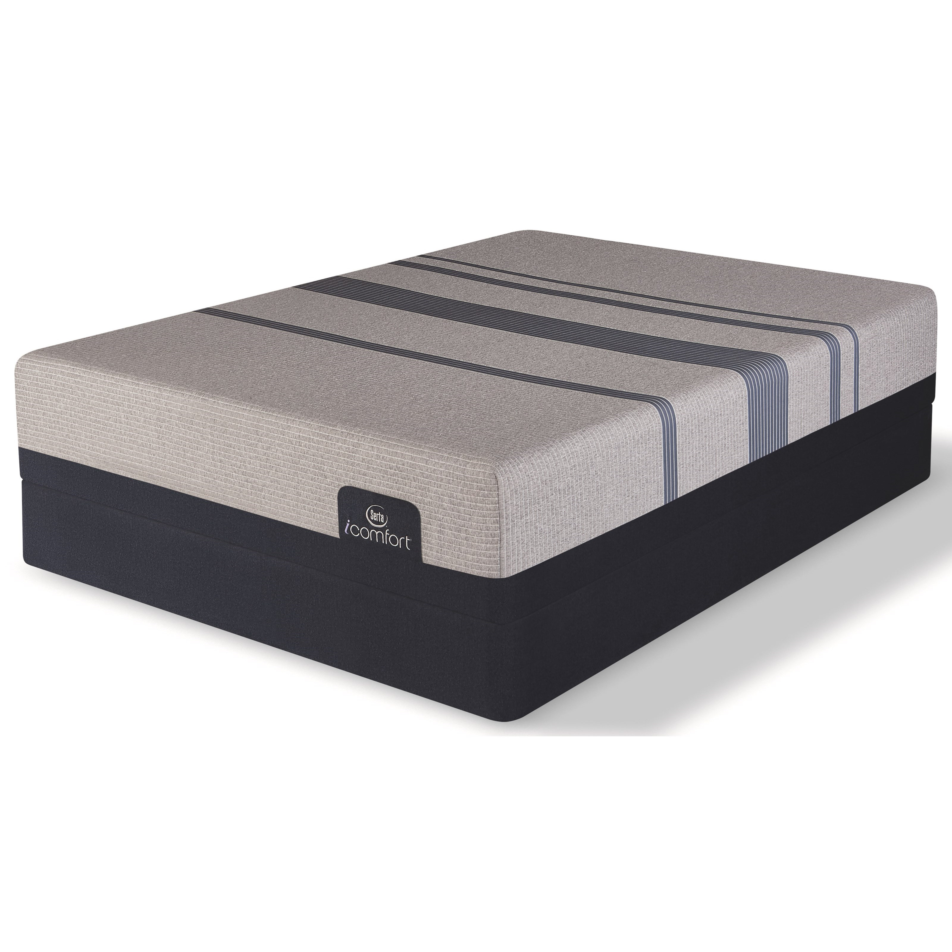 Serta iComfort Blue Max 1000 Plush Twin XL Plush Gel Memory Foam Reg Set - Item Number: 500801368-1020+500117499-5020