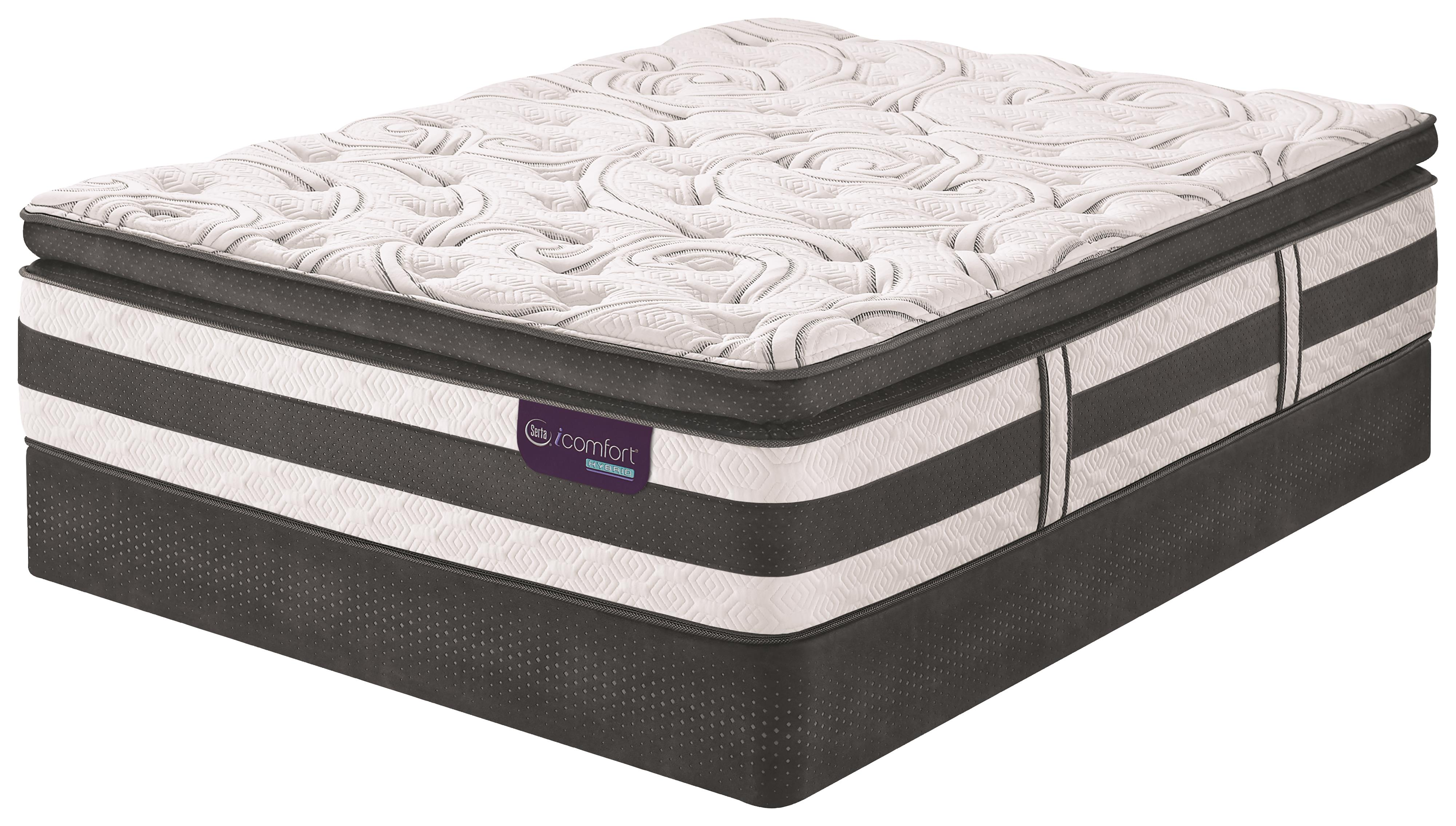 Serta iComfort Hybrid Advisor Cal King PT Hybrid Quilted Mattress Set, LP - Item Number: AdvisorPT-CK+2xLPStabL-Base-SPCK