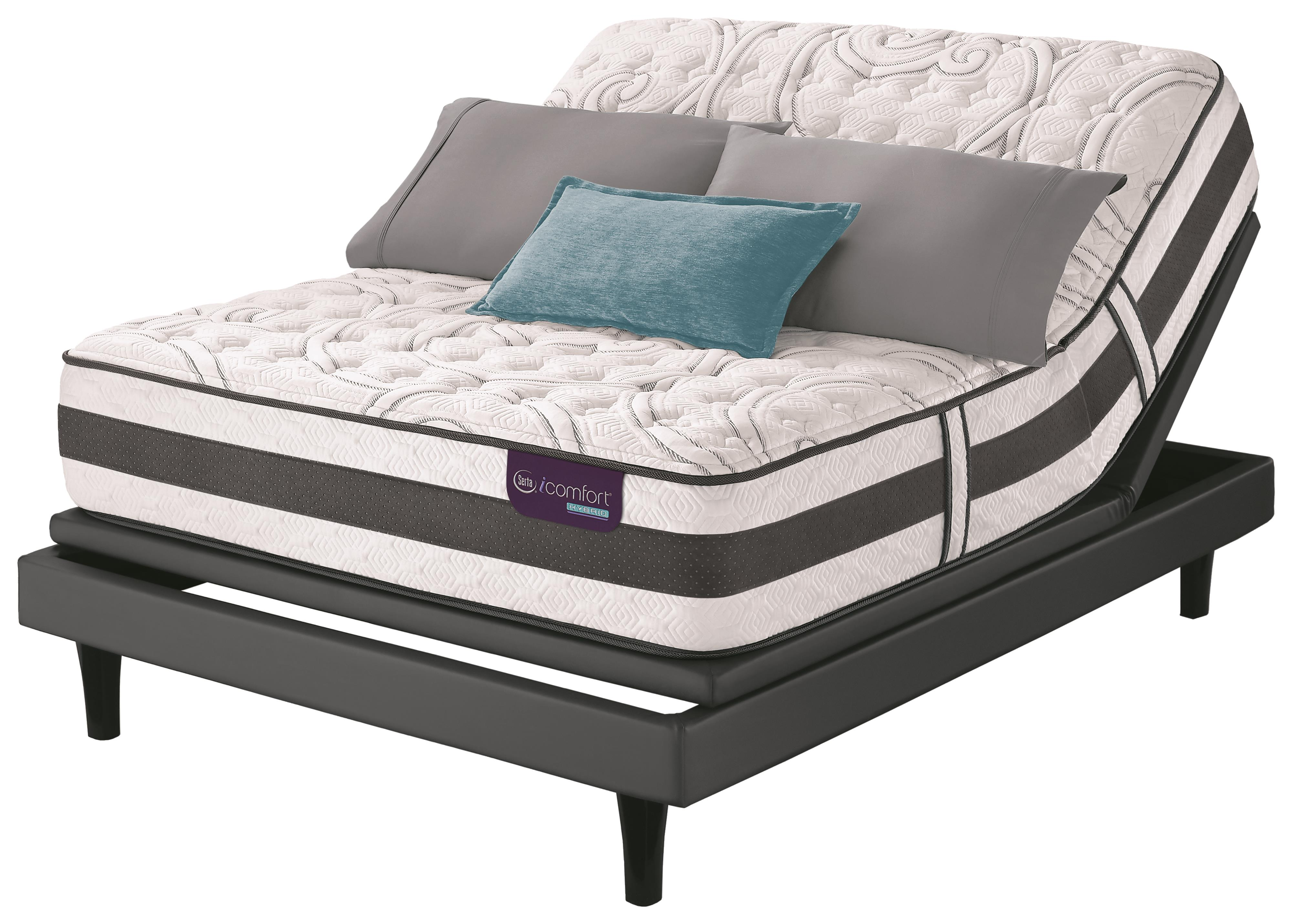 Serta iComfort Hybrid Applause II Full Firm Hybrid Quilted Matt Set, Adj - Item Number: ApplauseIIF-F+MPIII-F
