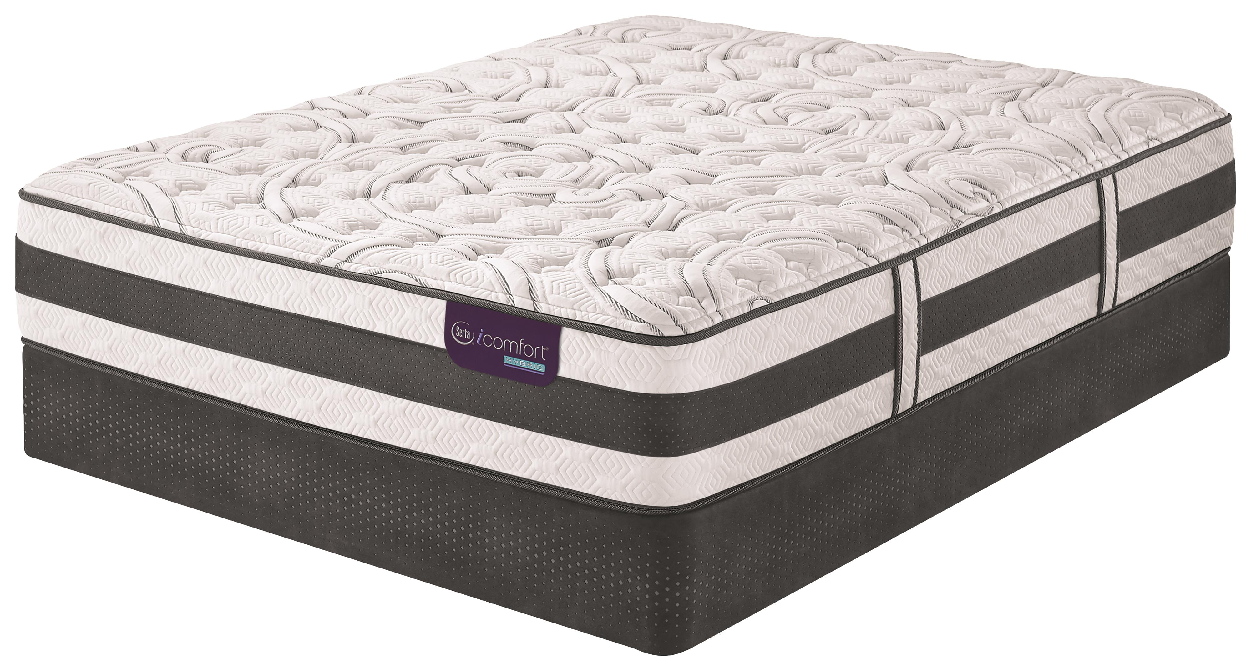 Serta iComfort Hybrid Applause II King Firm Hybrid Quilted Mattress Set - Item Number: ApplauseIIF-K+2xStabL-Base-TXLK