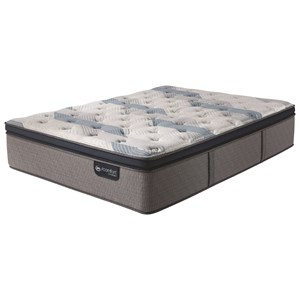 Serta iComfort Hybrid Blue Fusion 300 Plush PT Queen Plush Pillow Top Hybrid Mattress
