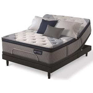 Serta iComfort Hybrid Blue Fusion 4000 Plush PT Divided King Plush Pillow Top Hybrid Adj Set