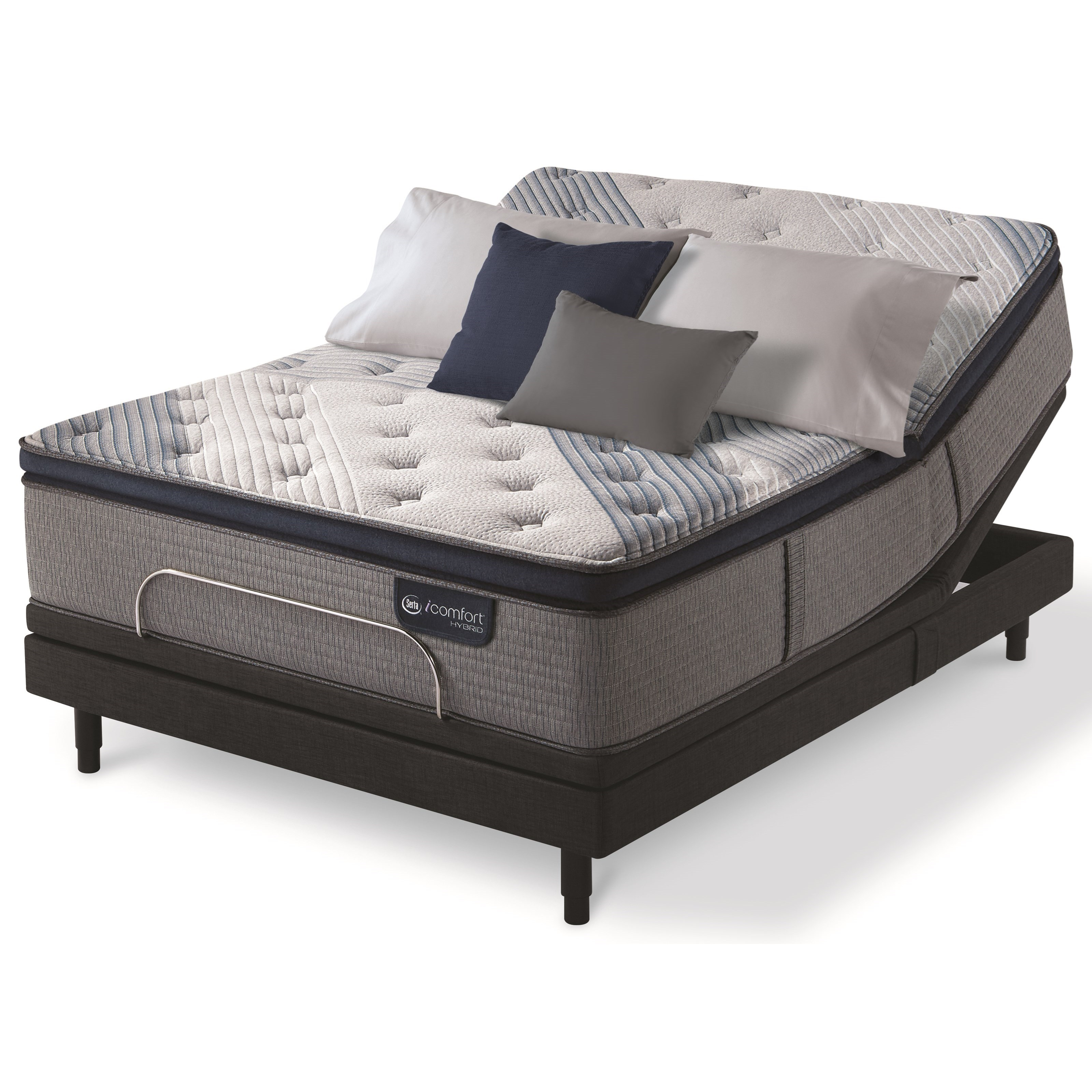 Queen Cushion Firm PT Hybrid Adj Set
