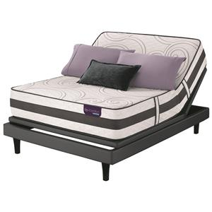 Serta iComfort Hybrid Discoverer Queen Plush Hybrid Mattress Set, Adj