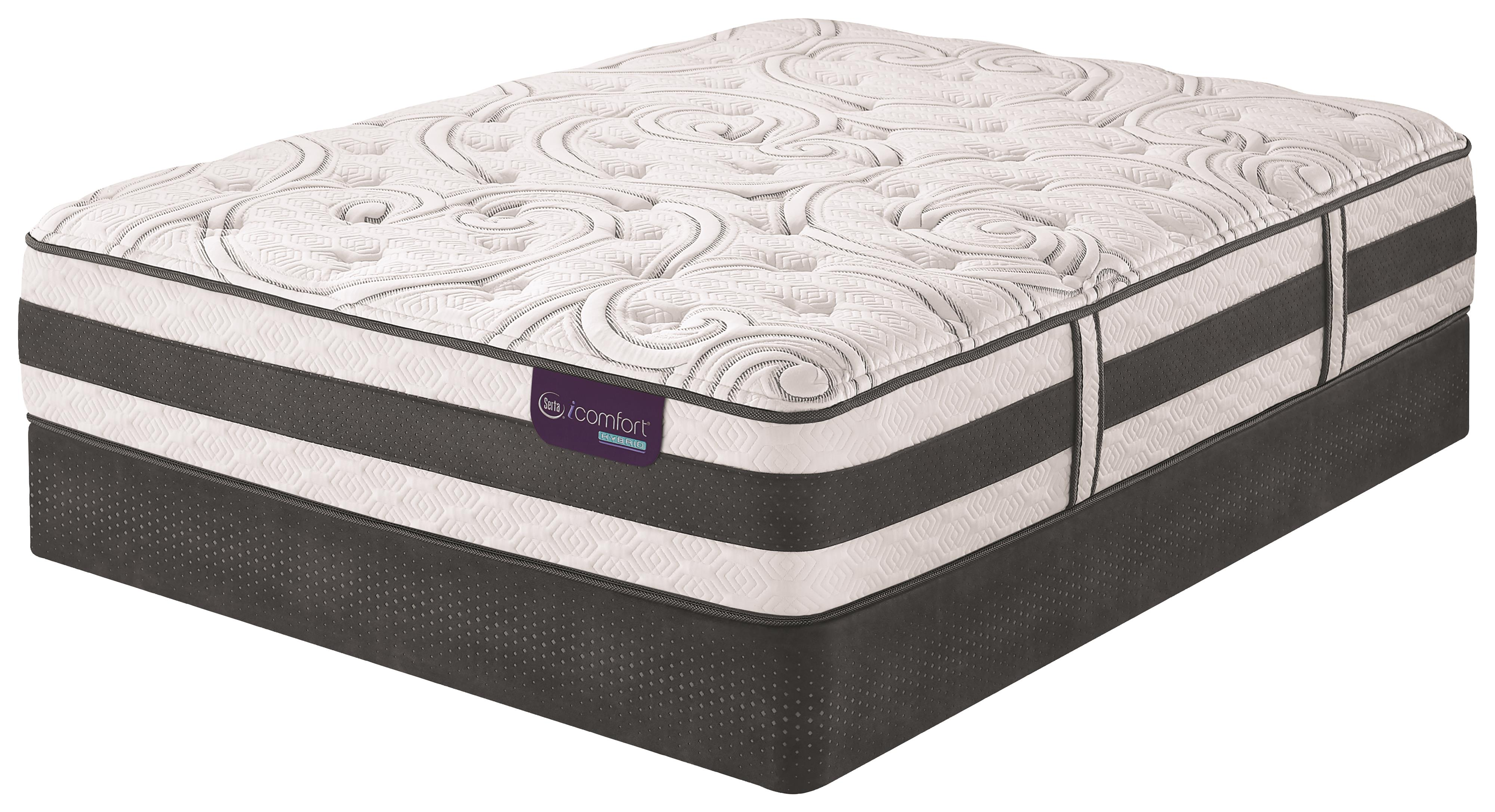 Serta iComfort Hybrid Recognition Twin XL Plush Hybrid Quilted Mattress Set - Item Number: RecgntnPlush-TXL+StabL-Base-TXLK