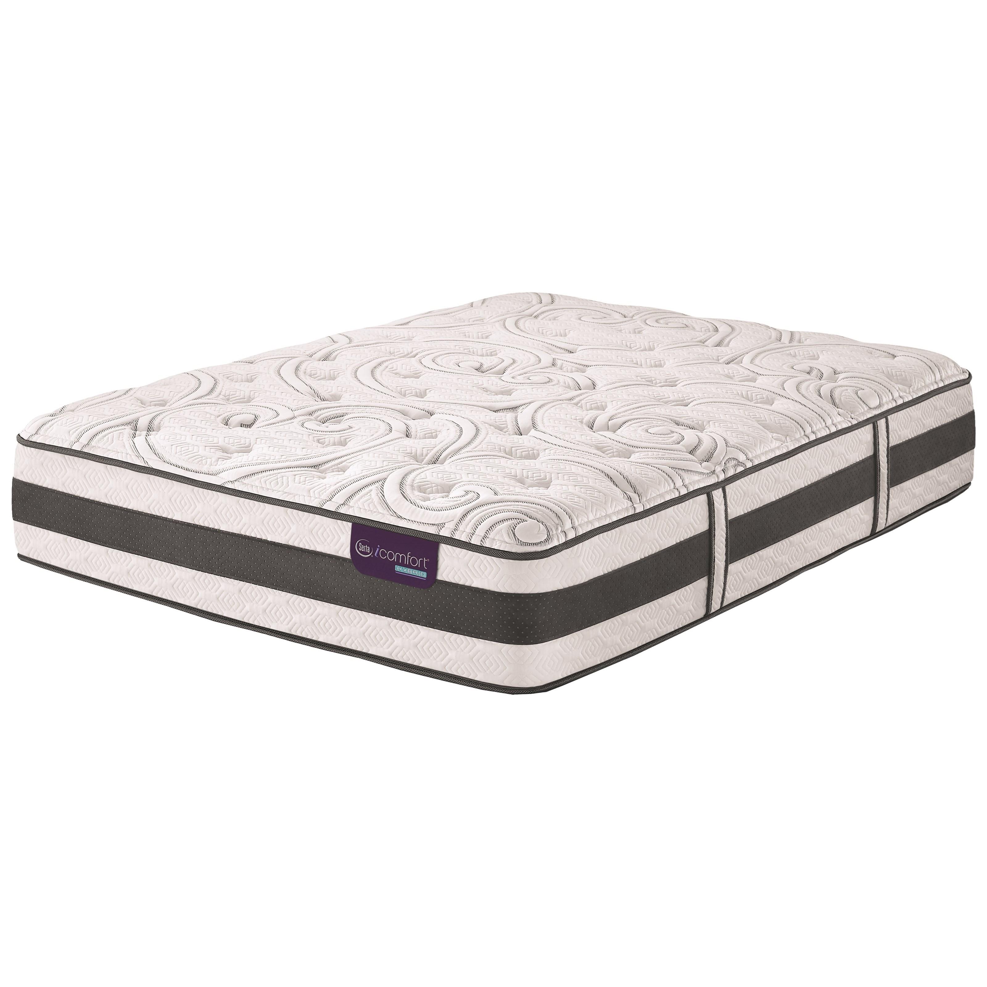Serta iComfort Hybrid Recognition Split King Plush Hybrid Quilted Mattress - Item Number: RecgntnPlush-TXLK
