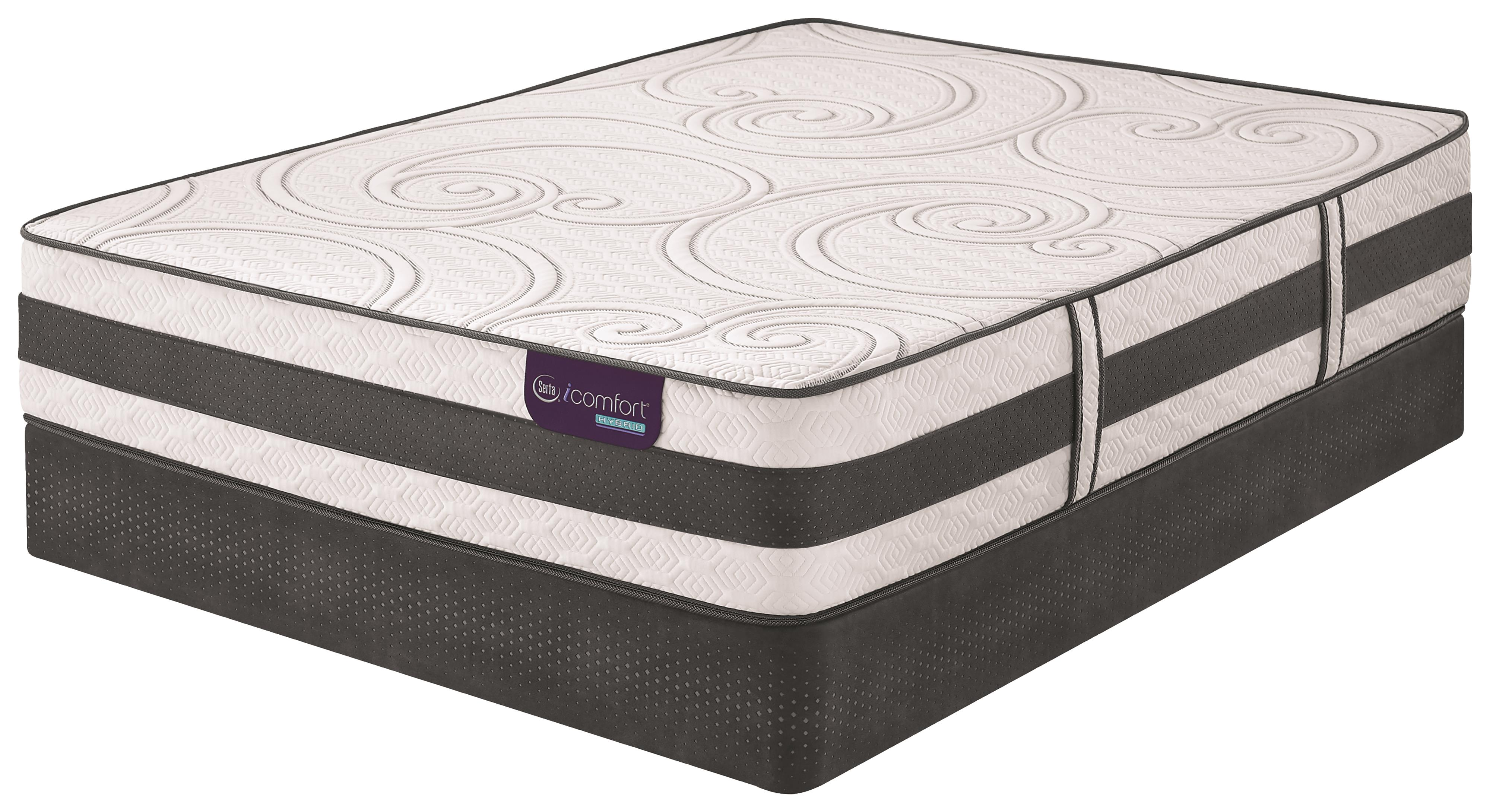 Serta iComfort Hybrid Visionaire Queen Firm Hybrid Mattress Set - Item Number: VisionaireF-Q+StabL-Base-Q