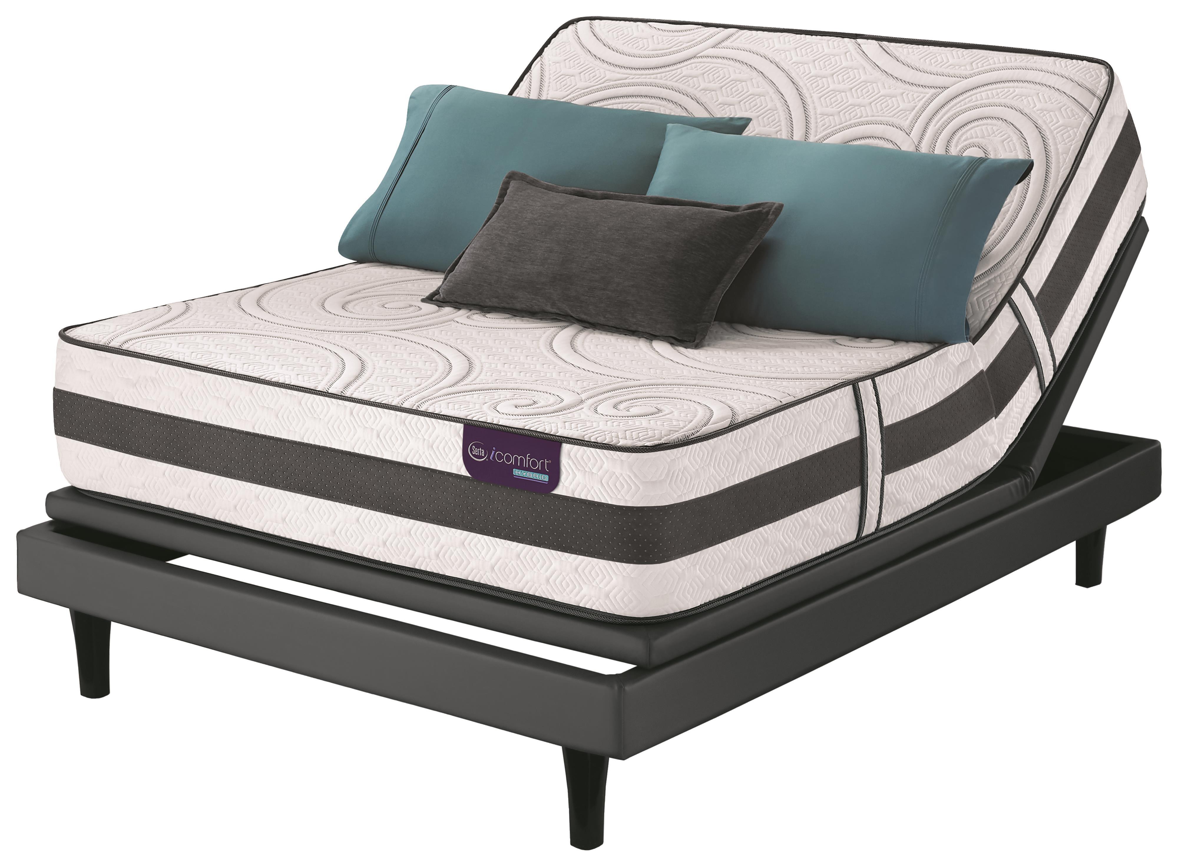Serta iComfort Hybrid Visionaire King Extra Plush Hybrid Mattress Set, Adj - Item Number: VisionaireXP-K+MPIII-DK