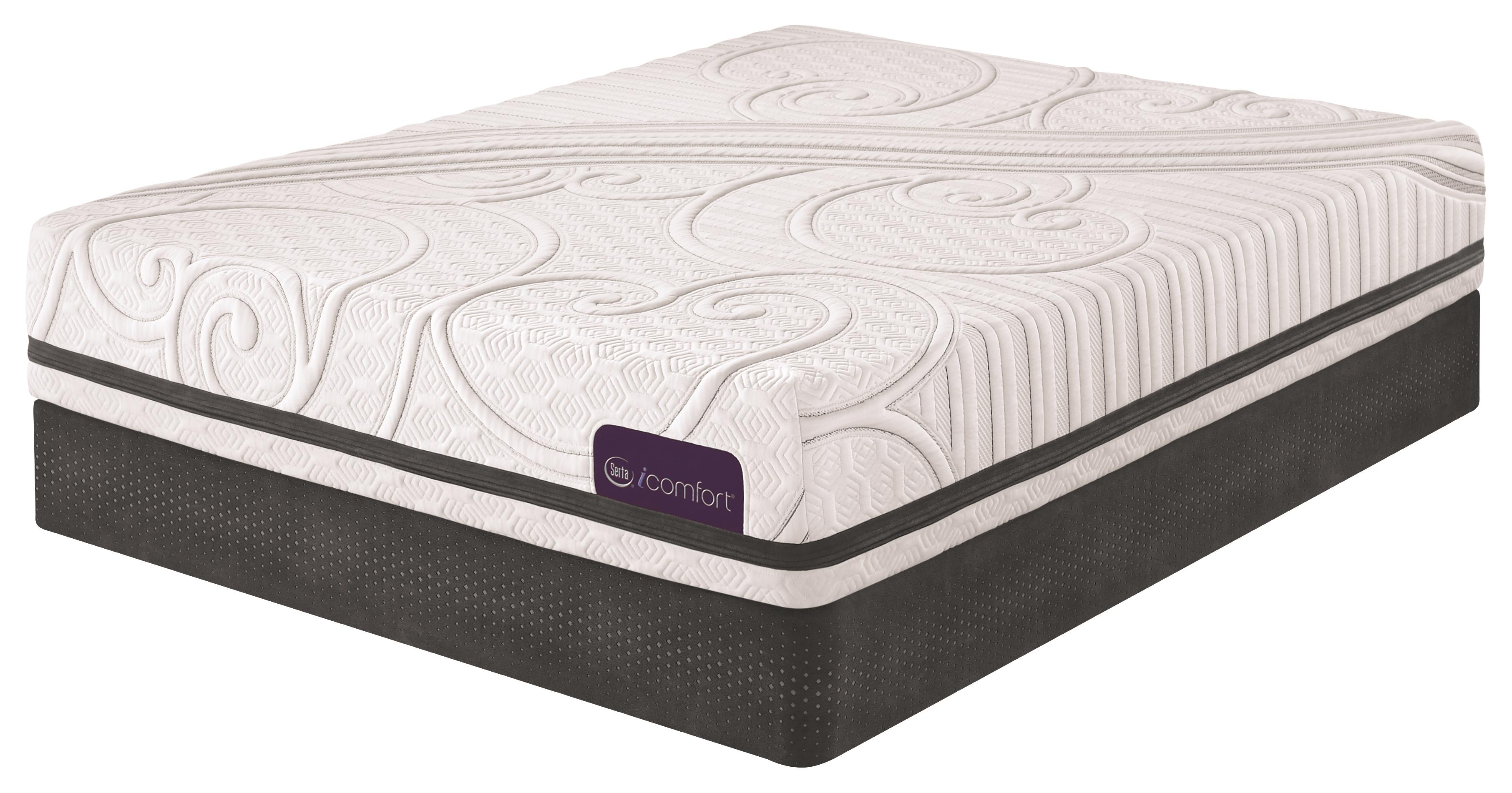 Serta iComfort Savant III Full Plush Gel Memory Foam Mattress Set - Item Number: SavantIIIP-F+StabL-Base-F