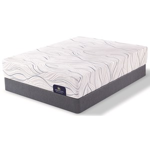 Serta PS Carriage Hill Plush King Plush Gel Memory Foam Mattress Set
