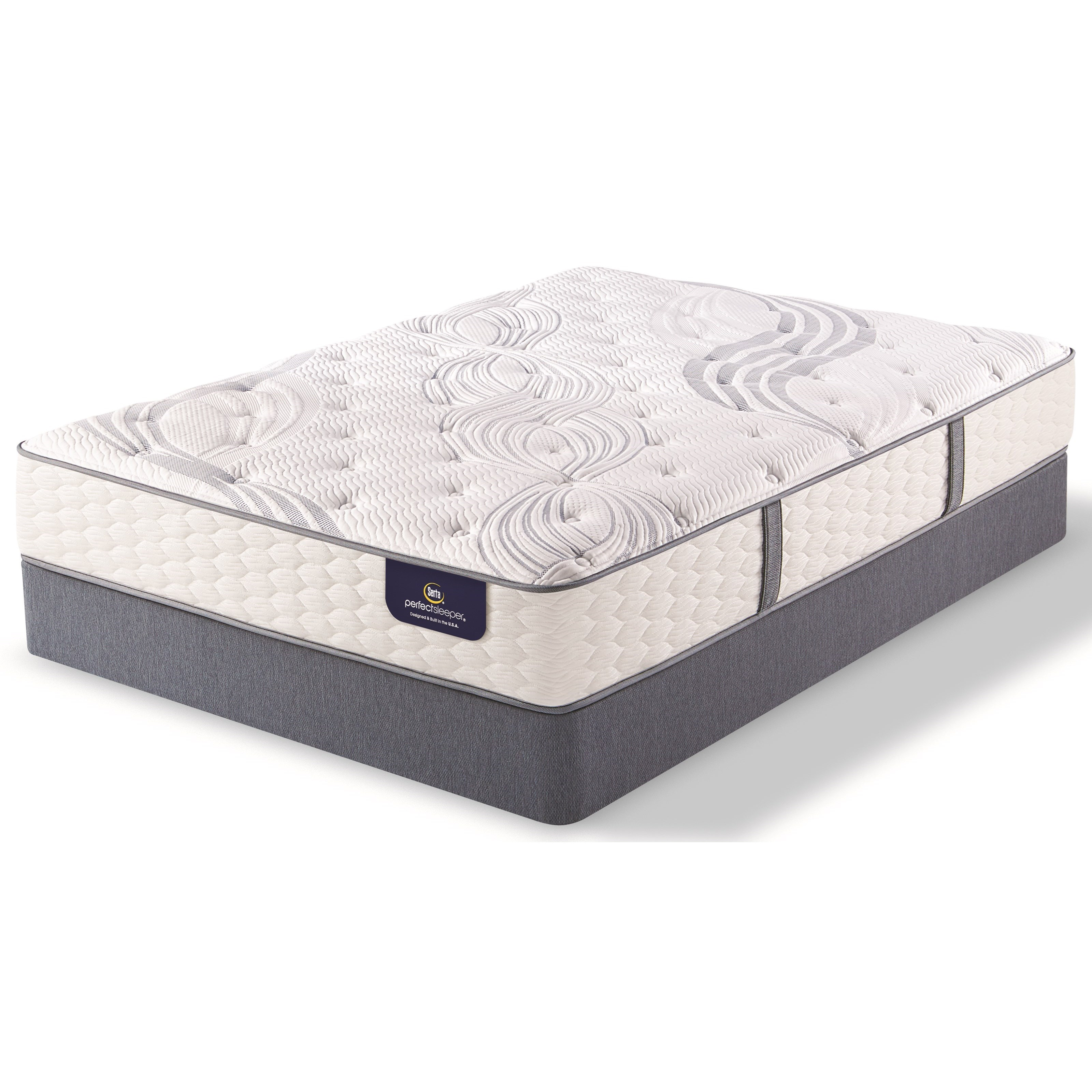 Serta Annapolis Twin Plush Pocketed Coil Mattress Set - Item Number: PSEPlush-T+StabL-Base-T