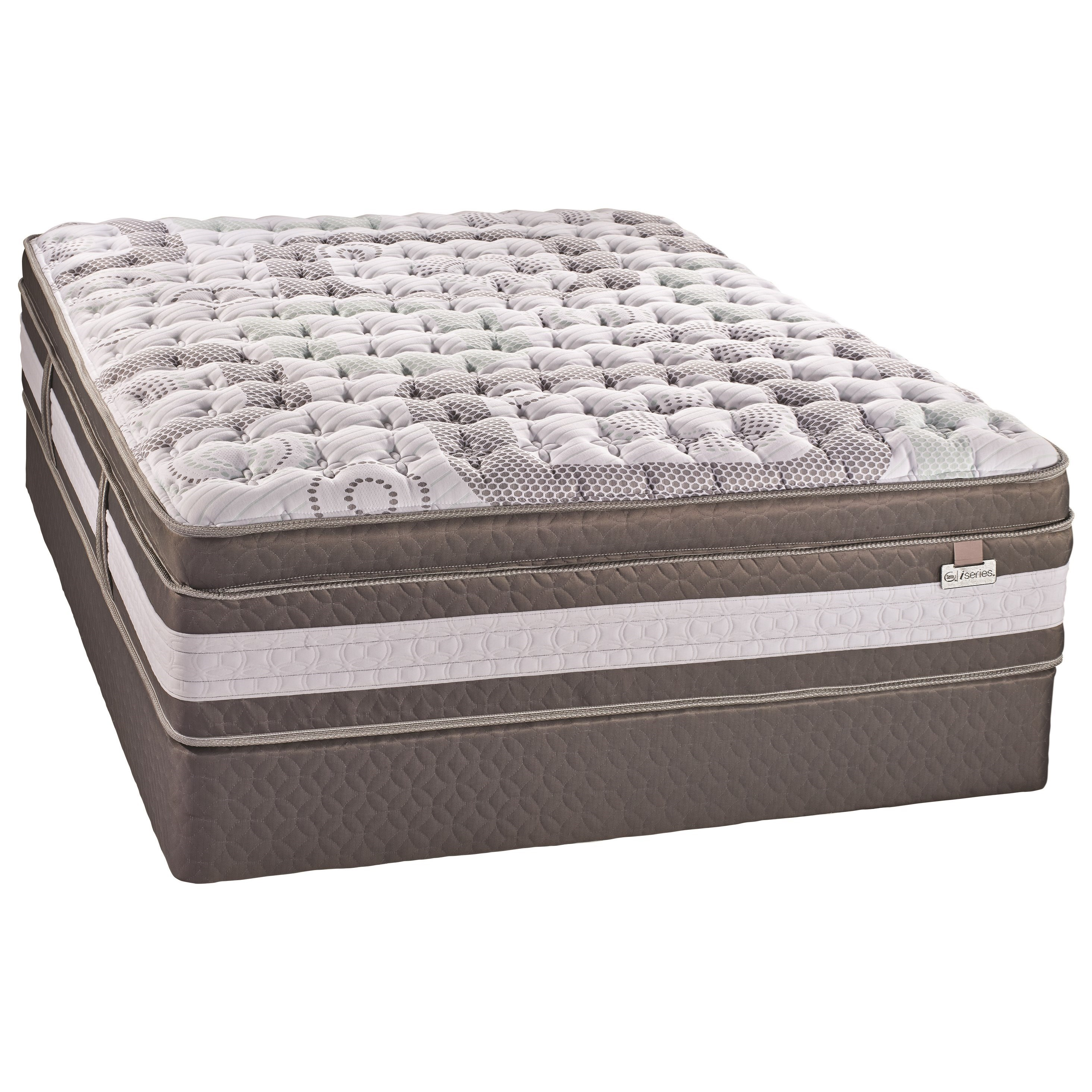 Serta Canada Artistry II Plush ET King Euro Top Plush Hybrid Mattress Set - Item Number: 500420436-K+2x500420099-TXL