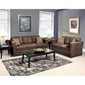 Serta Upholstery 1085 Contemporary Loveseat with Tufted Seats