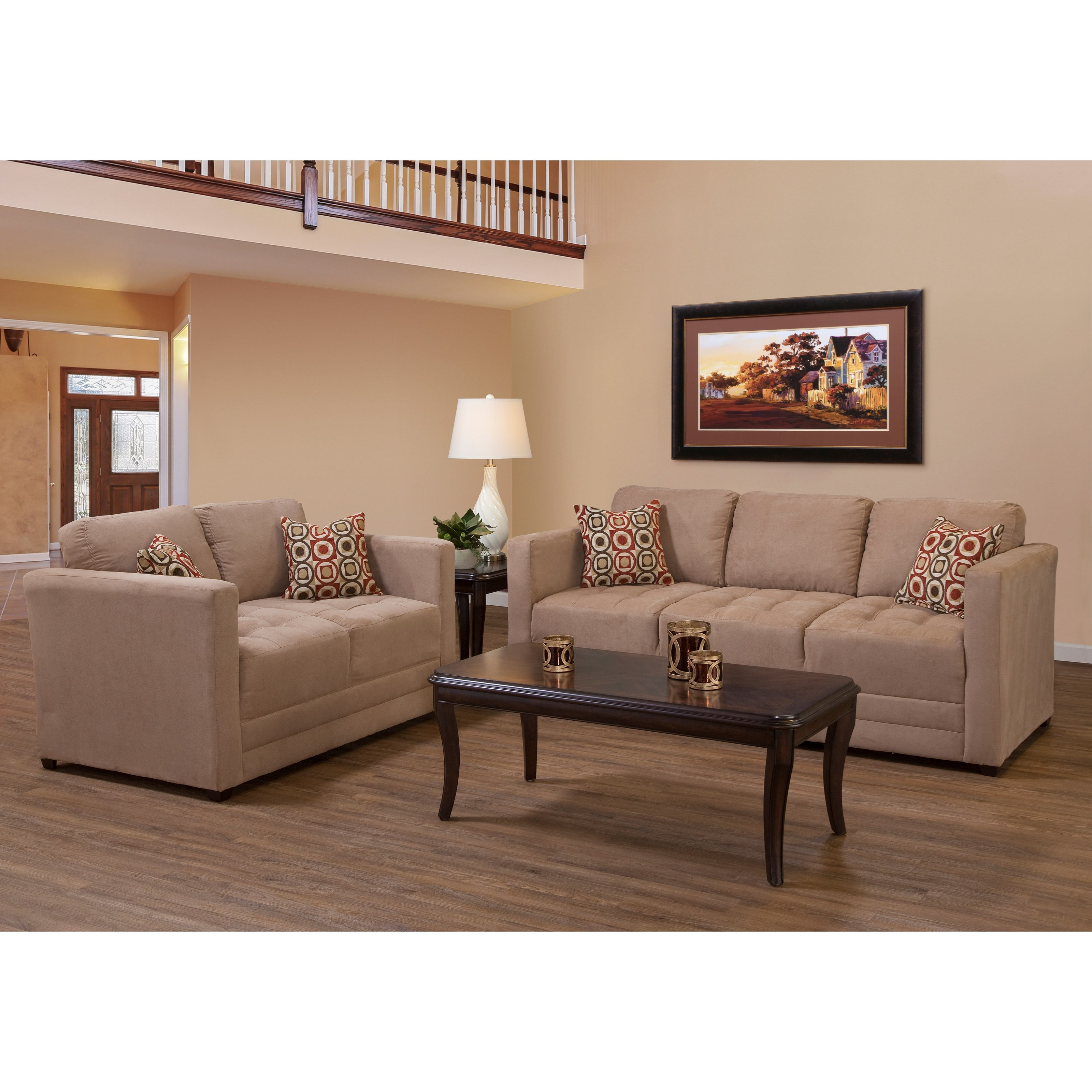 Brown Living Room Tables Sets: Serta Upholstery By Hughes Furniture 1085 Contemporary