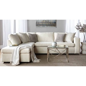 Serta Upholstery by Hughes Furniture 1100 Sectional Sofa with Chaise