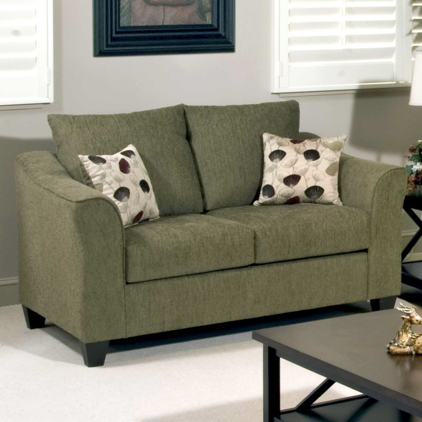 Casual Upholstered Love Seat