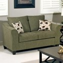 Serta Upholstery 1225 Casual Upholstered Love Seat - Item Number: 1225LS-1