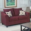 Serta Upholstery by Hughes Furniture 1225 Casual Upholstered Love Seat - Item Number: 1225LS-2
