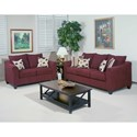Serta Upholstery 1225 Casual Upholstered Sofa with Flare Tapered Arms