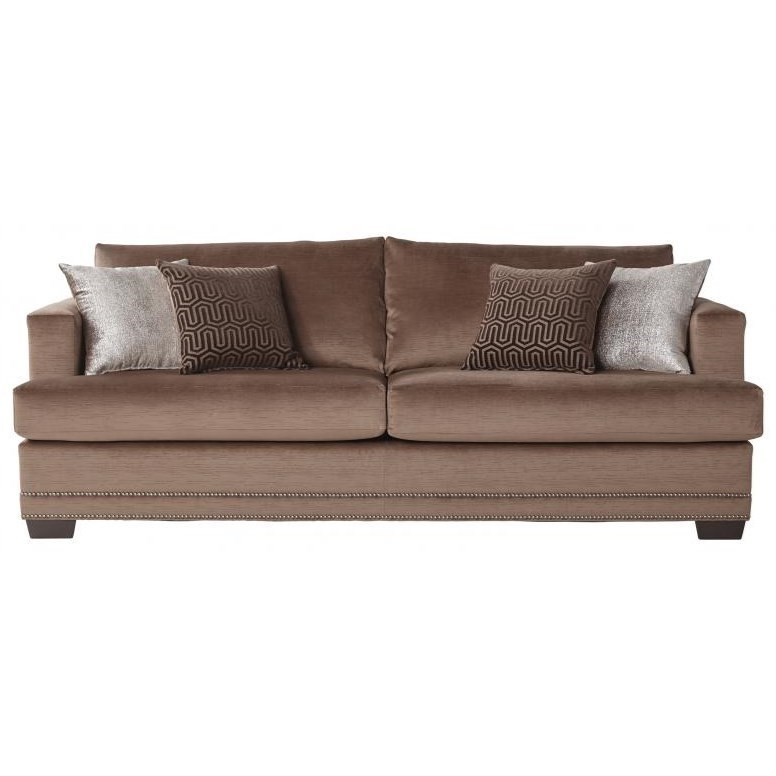 Serta Upholstery by Hughes Furniture 13325 Deco-Modern Sofa - Item Number: 13325 Empire Toffee