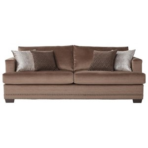 Serta Upholstery by Hughes Furniture 13325 Deco-Modern Sofa