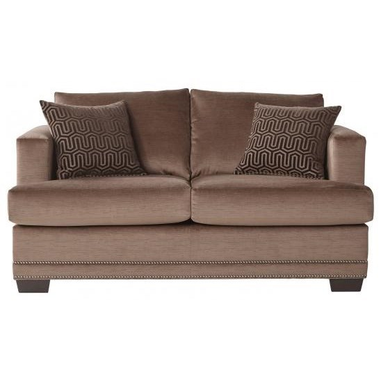 Serta Upholstery by Hughes Furniture 13325 Deco-Modern Loveseat - Item Number: 13325LS Empire Toffee