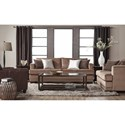 Serta Upholstery 13325 Deco- Modern Loveseat with Nailhead Trim