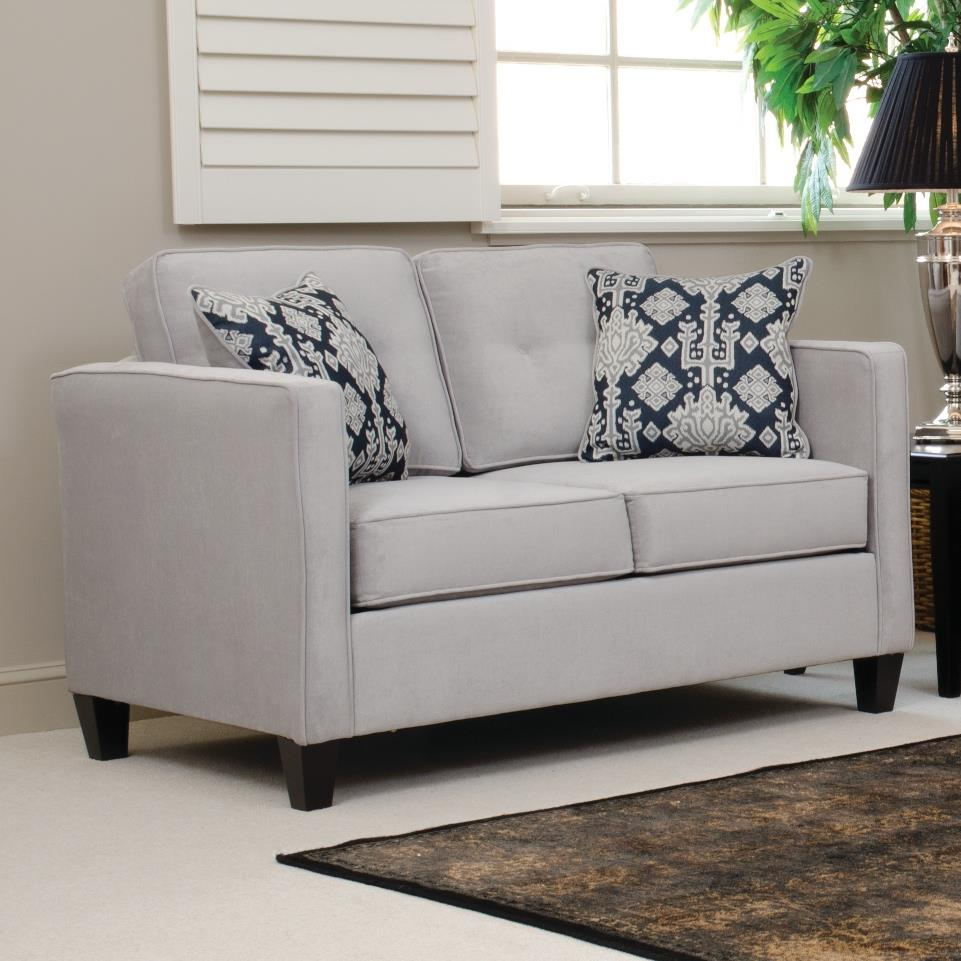 Serta Upholstery by Hughes Furniture 1375 Loveseat - Item Number: 1375LS-ELSI