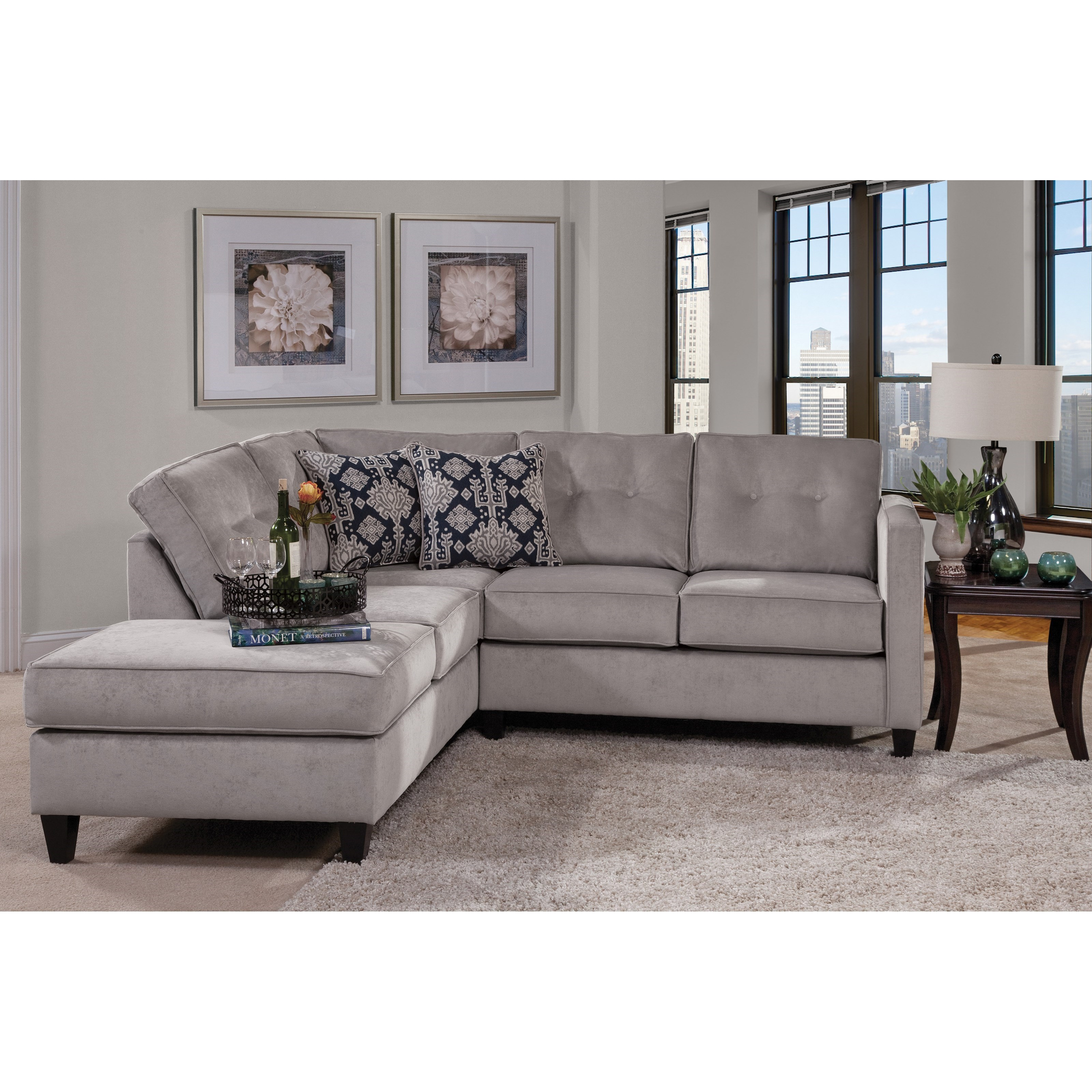 Serta Upholstery by Hughes 1375 Contemporary Sectional - Item Number: 1375SEC