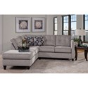 Serta Upholstery by Hughes Furniture 1375 Contemporary Sectional - Item Number: 1375SEC