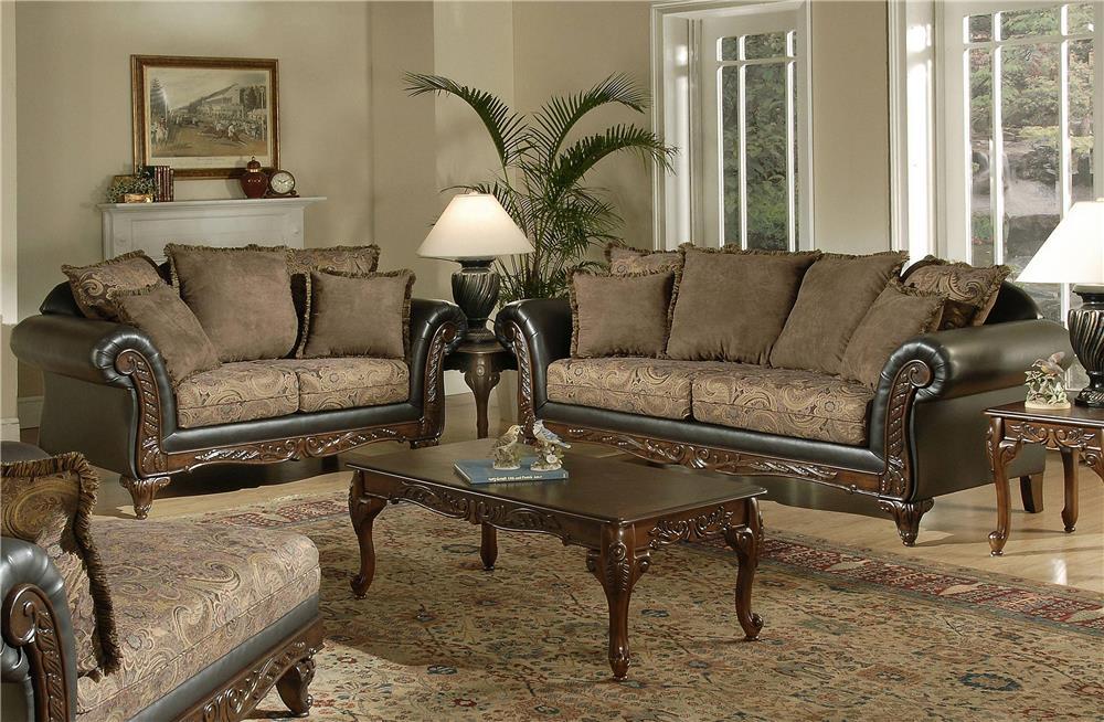 Serta Upholstery Monaco 5-Piece Living Room Package - Item Number: 7685-S+LS+T3177