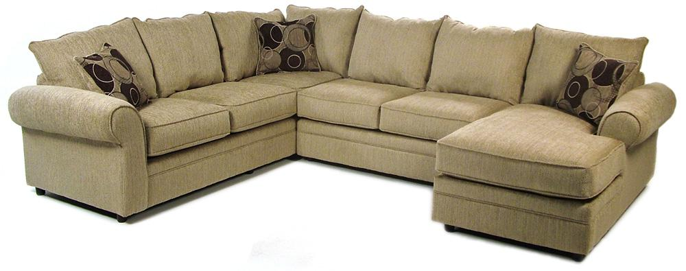 Serta Upholstery Ridgeford 3 Piece Sectional - Item Number: 9900-ALS+RFCHS+LFS