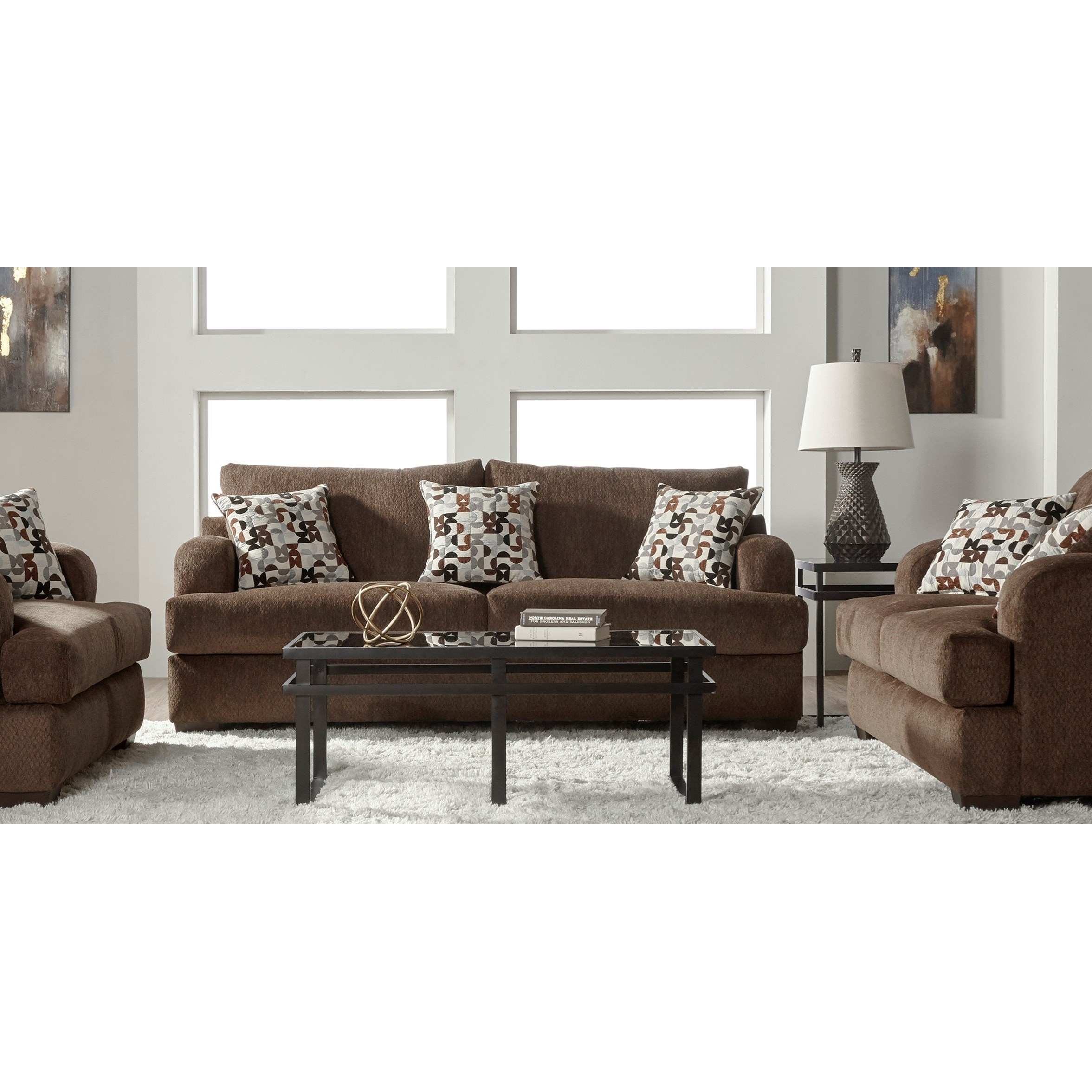 Serta Upholstery by Hughes Furniture 14100 Stationary Living Room ...