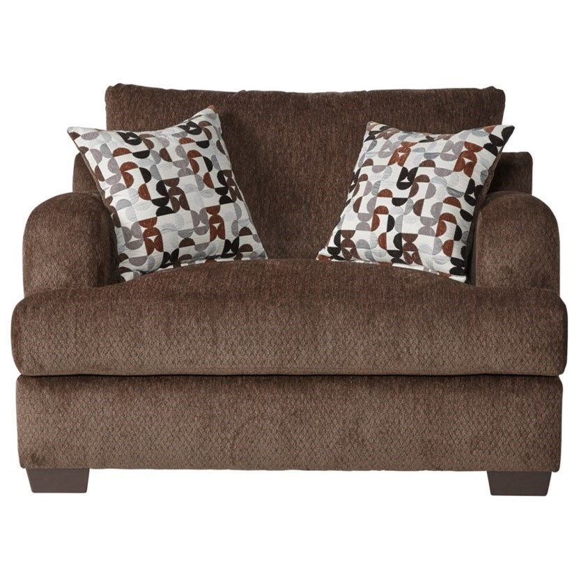 Serta Upholstery by Hughes Furniture 14100 Cuddle Chair - Item Number: 14100CC-Bronco Sable