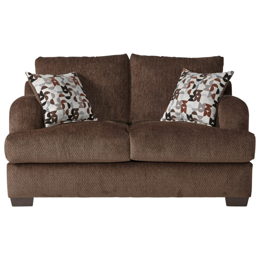 Serta Upholstery by Hughes Furniture 14100 Loveseat - Item Number: 14100LS-Bronco Sable