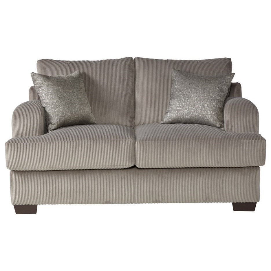 14100 Loveseat by Serta Upholstery by Hughes Furniture at Rooms for Less