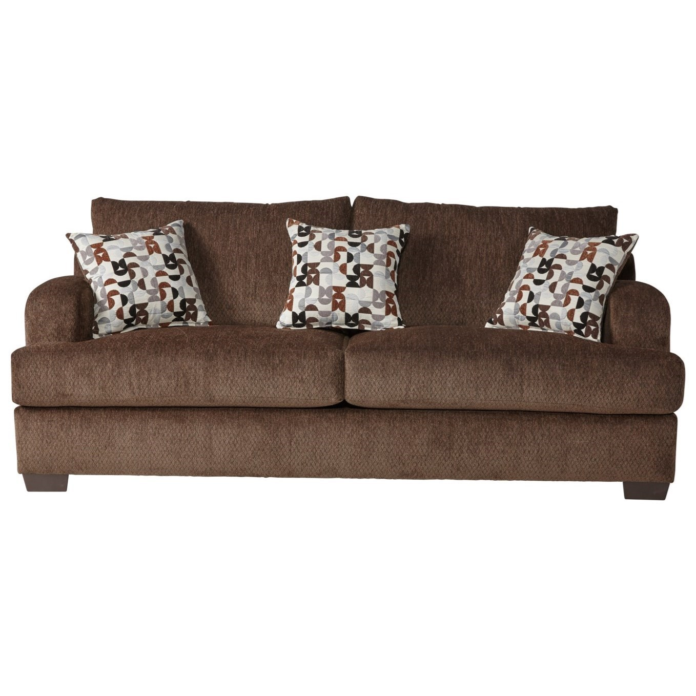Serta Upholstery by Hughes Furniture 14100 Sofa - Item Number: 14100S-Bronco Sable