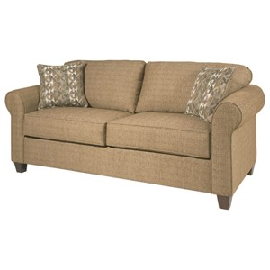 Serta Upholstery by Hughes Furniture 1750 Casual Twin Sofa Sleeper with Sock Arms Colder s