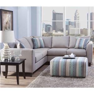 Serta Upholstery by Hughes Furniture 2100 Sectional