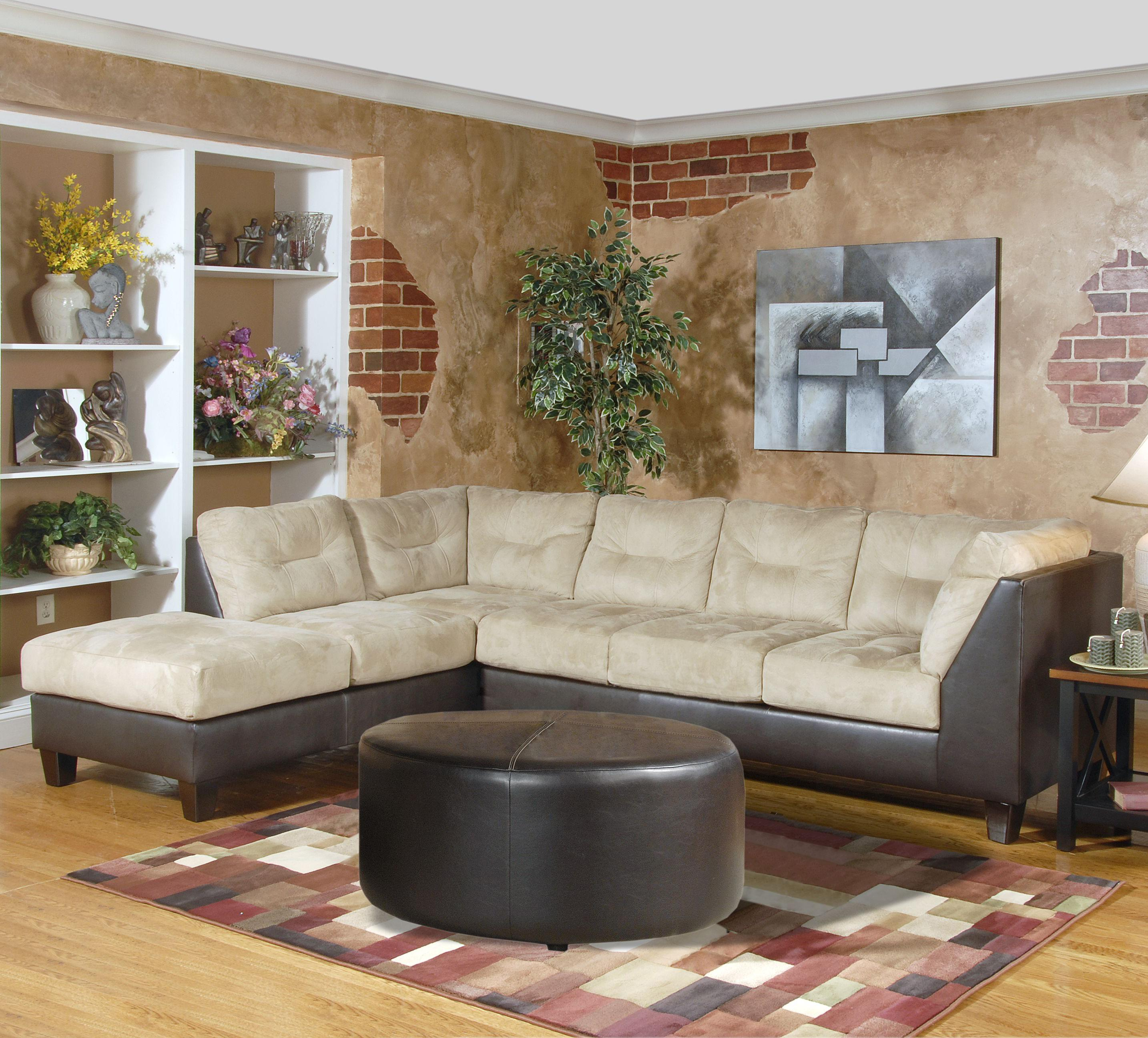 2550 Sectional Sofa by Serta Upholstery by Hughes Furniture at Rooms for Less