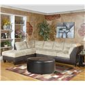 Serta Upholstery 2550 Sectional Sofa - Item Number: 2550-LFCHS+RFS