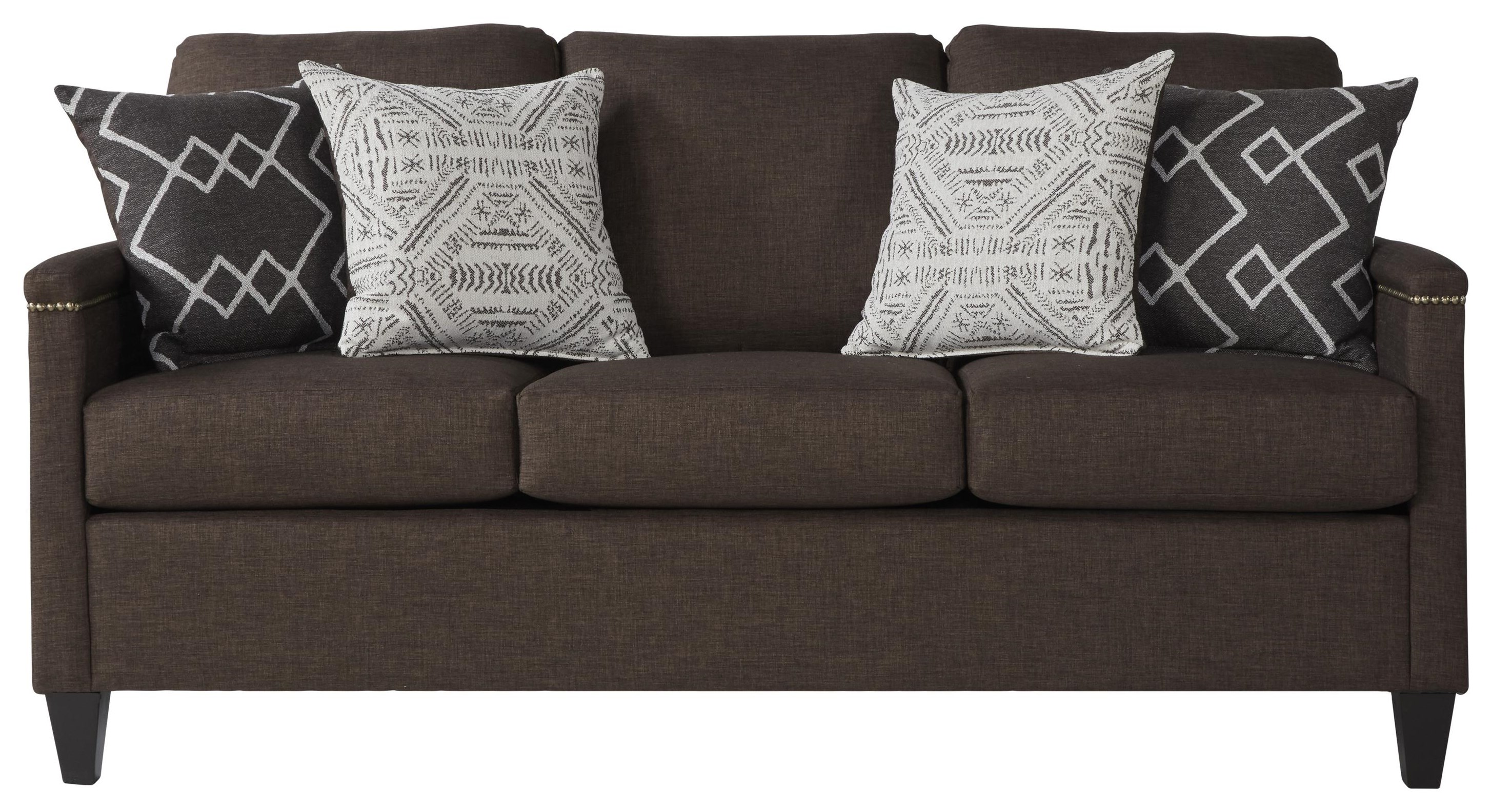 25 Casual Sofa by Serta Upholstery by Hughes Furniture at VanDrie Home Furnishings