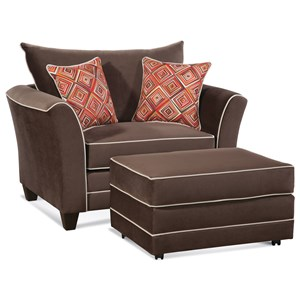 Serta Upholstery by Hughes Furniture 2650 Upholstered Chair and Ottoman