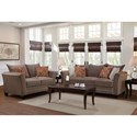 Serta Upholstery by Hughes Furniture 2650 Transitional Loveseat with Accent Welt