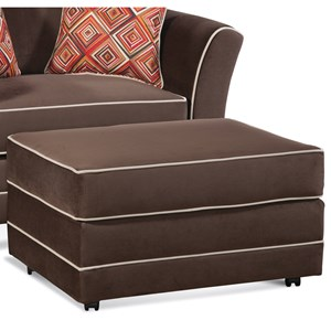 Serta Upholstery by Hughes Furniture 2650 Upholstered Ottoman