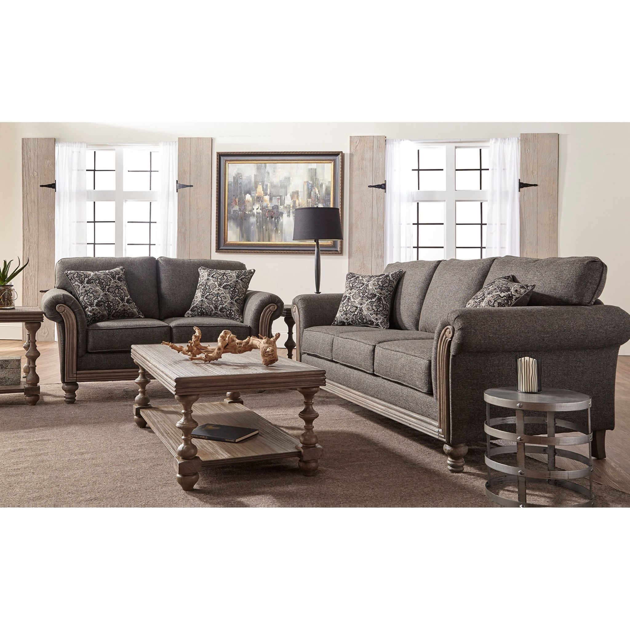 Serta Upholstery Belmont Traditional Stationary Sofa With